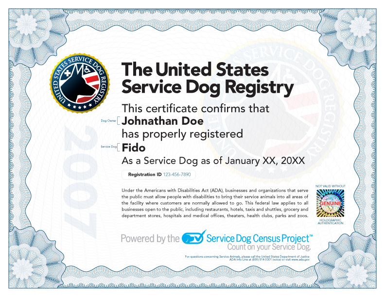 How Can I Get A Service Dog Certificate